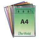 Kapsy Foldfive na přídavné dokumenty A4, mix barev/5ks