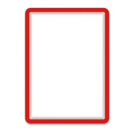 Magneto červená A4 magnetická kapsa/2ks. Samolepící zadní strana
