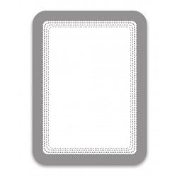 Magneto stříbrná A6 magnetická kapsa/2ks. Samolepící zadní strana