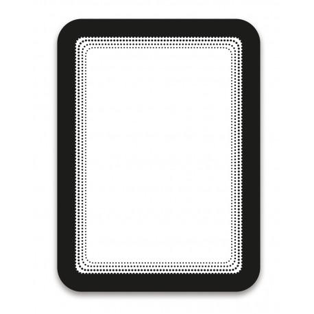 Magneto černá A6 magnetická kapsa/2ks. Samolepící zadní strana