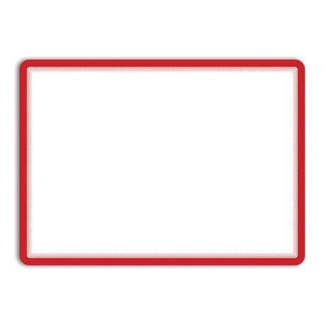 Magneto - samolepicí rámeček, A3, antireflex. PVC, červený - 2 ks