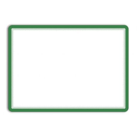 Magneto - samolepicí rámeček, A3, antireflex. PVC, zelený- 2 ks