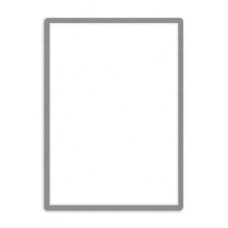 Magneto - samolepicí rámeček, A1, antireflex. PVC, stříbrný