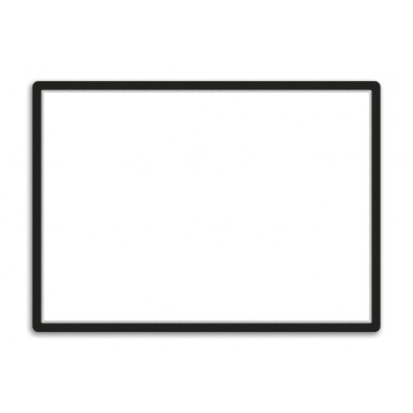 Magneto - samolepicí rámeček, A1, antireflex. PVC, černý