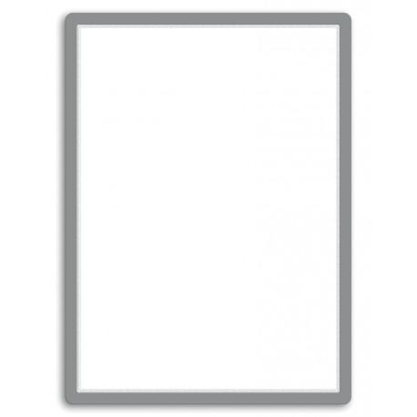 Magneto - samolepicí rámeček, 50x70cm, stříbrný