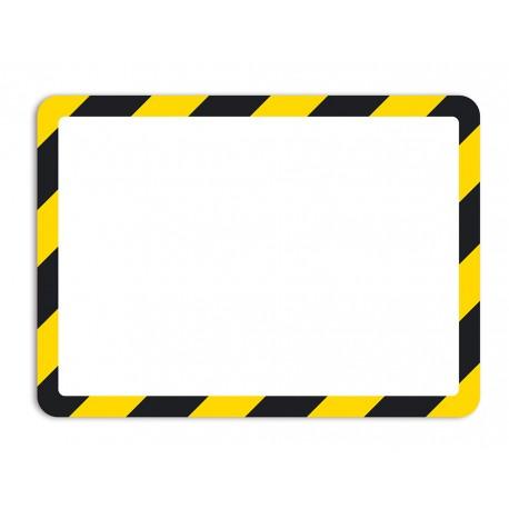 Magneto bezpezpečnostní žlutočerná A4 magnetická kapsa/2ks. Samolepící zadní strana