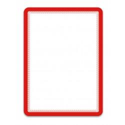 Magneto červená A4 magnetická kapsa/2ks. Magnetická zadní strana