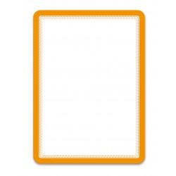 Magneto oranžová A4 magnetická kapsa/2ks. Magnetická zadní strana