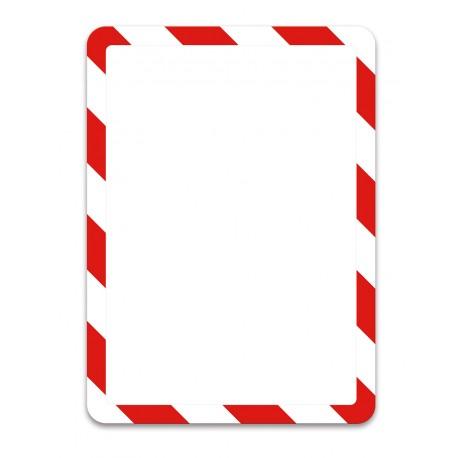 Magneto bezpečnostní červenobílá A4 magnetická kapsa/2ks. Magnetická zadní strana