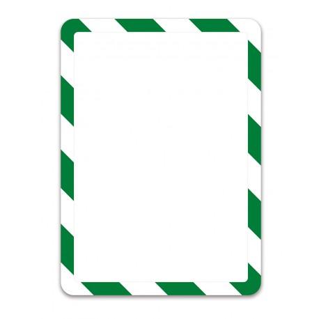 Magneto bezpečnostní zelenobílá A4 magnetická kapsa/2ks. Magnetická zadní strana