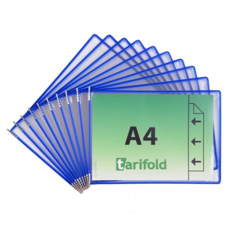 Závěsné modré kapsy A4 s úchyty/10 ks