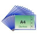 Závěsné modré kapsy A4 s úchyty/10 ks na šířku