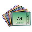 Závěsné mix barev kapsy A4 s úchyty/10 ks na šířku