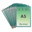 Kapsy A5 zelené s kovovými úchyty na výšku/10 ks