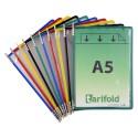 Kapsy A5 mix barev s kovovými úchyty na výšku/10 ks