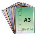 Kapsy A3 mix barev s kovovými úchyty na výšku/10 ks otevírání z boku