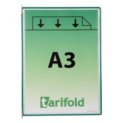 Kapsy A3 zelené s kovovými úchyty na výšku/10 ks