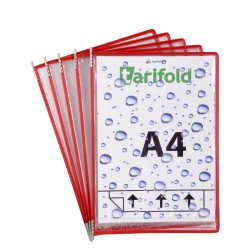 Vodotěsné závěsné kapsy A4 Drypocket s nerezovými úchyty červené/5ks