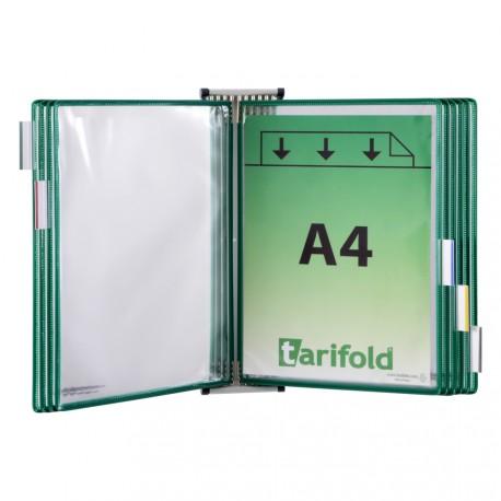 Kompletní nástěnný kovový držák + 10 zelených kapes