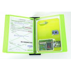 Kompletní nástěnný Black Line kovový + 10 neon zelené kapes