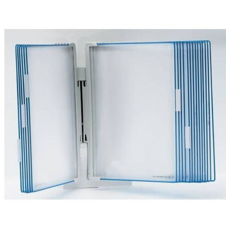 Nástěnný Design plastový držák A4 + 10 modrých závěsných kapes