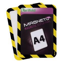 Magneto Solo bezpečnostní žluitočerná A4 magnetická kapsa/2ks. Samolepící zadní strana
