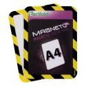 Magneto Solo bezpečnostní žlutočerná A4 magnetická kapsa/2ks.