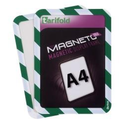 Magneto Solo bezpečnostní zelenobílá A4 magnetická kapsa/2ks.