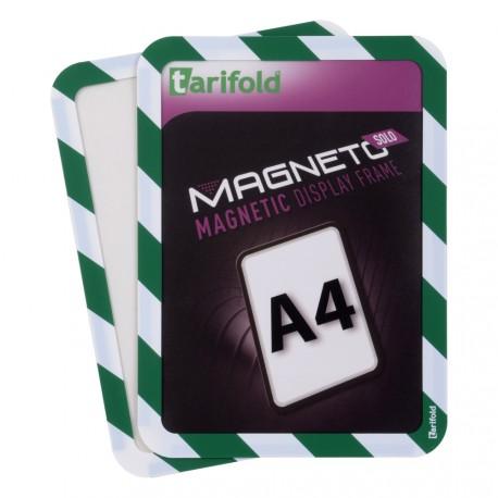 Magneto Solo bezpečnostní zelenobílá A4 magnetická kapsa/2ks. Samolepící zadní strana
