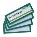 Samolepící rámeček 120x45mm/4ks zelený Display Frame