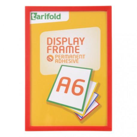 Samolepící rámeček A6 červený/1ks Display Frame