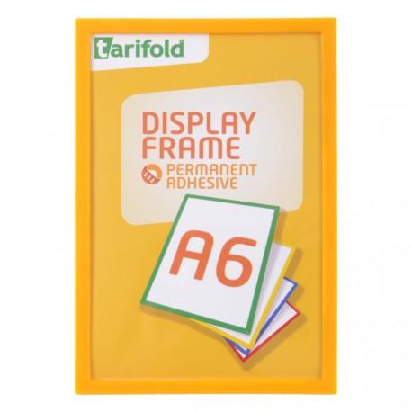 Samolepící rámeček A6 žlutý/1ks Display Frame