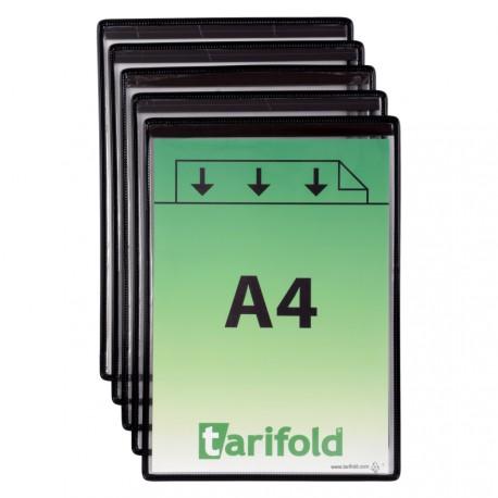 Magnetické ochranné kapsy A4, na výšku černé/5ks