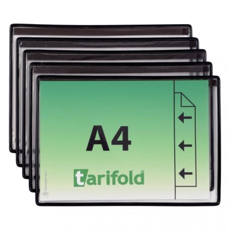 Magnetické ochranné kapsy A4, na šířku černé/5ks