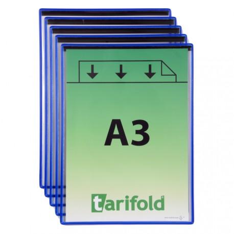 Magnetické ochranné kapsy A3, na výšku modré/5ks