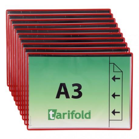 Magnetické ochranné kapsy A3, na výšku červené/10ks