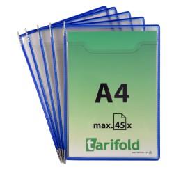 Kapsy Fold up na obsáhlé dokumenty A4, otevřené shora modré/5ks