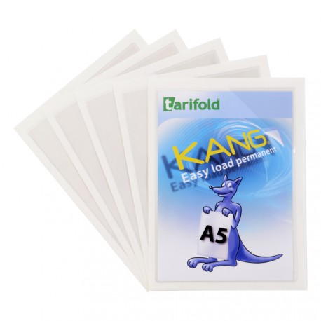 Samolepicí kapsy Kang Easy Load A5, permanentní transparentní/5ks