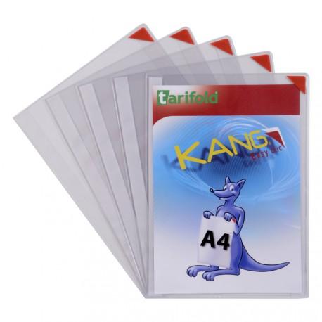 Samolepicí kapsy Kang Easy Clic A4, nepermanentní červené/5ks