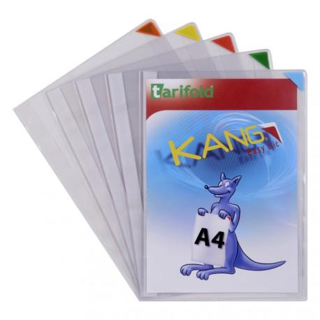Samolepicí kapsy Kang Easy Clic A4, nepermanentní mix barev/5ks