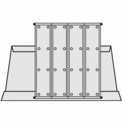 Pultový stojan kovový A4 na 40 kapes, bez kapes
