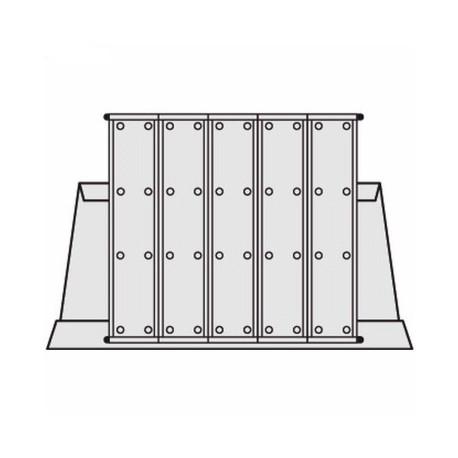 Pultový stojan kovový A4 na 50 kapes, bez kapes