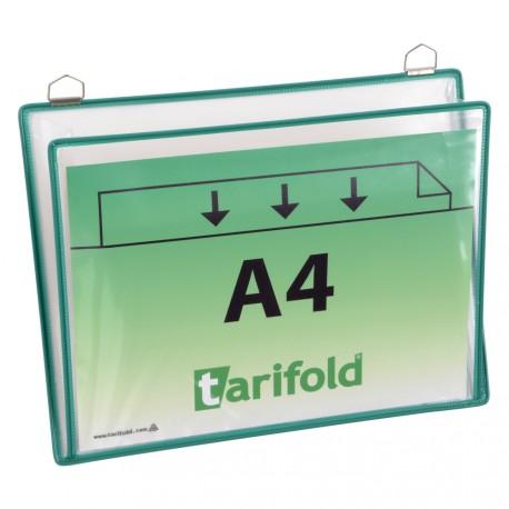 Odkládací kapsy zelené na šířku s 2 očky A4/5ks