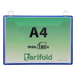 Odkládací taška modrá na šířku s 2 očky A4/5ks