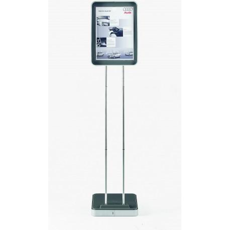 Informační stojan Infostand Solo, 1,2m / panel pro 1 list A4 šedý