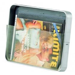 Infostand zásobník na tiskoviny A4, na šířku šedý