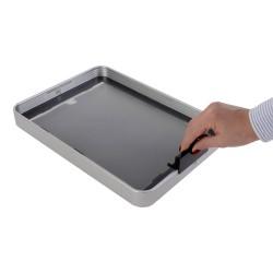 Infostand prezentační displej na 10 kapes A4/A5 šedý