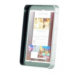 Infostand prezentační jednostránkový panel A4 šedý