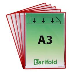 Samolepící červené kapsy A4/5ks