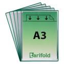 Samolepící zelené A3 kapsy s nepermanentním lepidlem /5ks